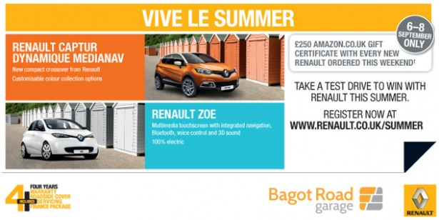 £250 Amazon Gift Voucher with New Renault's This Weekend